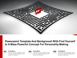 Powerpoint Template Background With Find Yourself In A Maze Powerful Concept For Personality Making