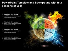 Powerpoint Template Background With Four Seasons Of Year Ppt Powerpoint