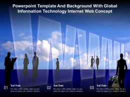 Powerpoint Template Background With Global Information Technology Internet Web Concept