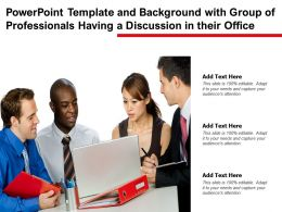 Powerpoint Template Background With Group Of Professionals Having A Discussion In Their Office