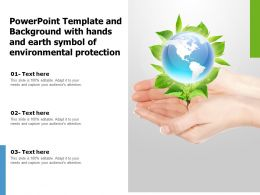 Powerpoint Template Background With Hands And Earth Symbol Of Environmental Protection