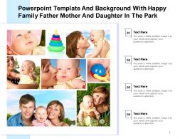 Powerpoint Template Background With Happy Family Father Mother And Daughter In The Park