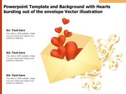 Powerpoint Template Background With Hearts Bursting Out Of The Envelope Vector Illustration