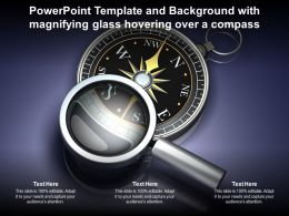 Powerpoint Template Background With Magnifying Glass Hovering Over A Compass