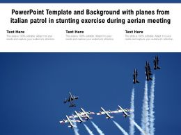 Powerpoint Template Background With Planes From Italian Patrol In Stunting Exercise During Aerian Meeting
