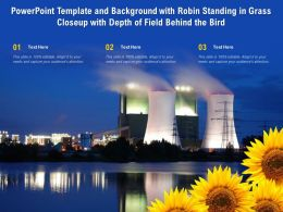Powerpoint Template Background With Save The Nature Concept With Sunflower And Oil Power Plan