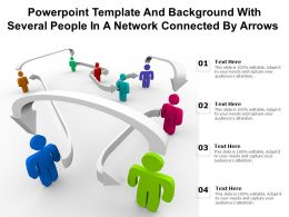 Powerpoint Template Background With Several People In A Network Connected By Arrows