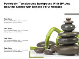 Powerpoint Template Background With Spa And Beautiful Stones With Bamboo For A Massage