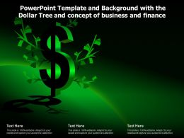 Powerpoint Template Background With The Dollar Tree And Concept Of Business And Finance