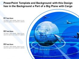 Powerpoint Template Background With This Design Has In The Background A Part Of A Big Plane With Cargo