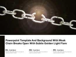 Powerpoint Template Background With Weak Chain Breaks Open With Subtle Golden Light Flare