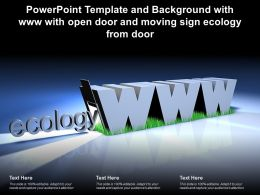 Powerpoint Template Background With Www With Open Door Moving Sign Ecology From Door