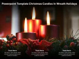 Powerpoint Template Christmas Candles In Wreath Holidays
