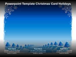 Powerpoint Template Christmas Card Holidays