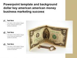 Powerpoint Template Dollar Key American American Money Business Marketing Success