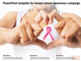 Powerpoint Template For Breast Cancer Awareness Campaign