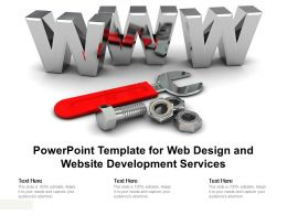 Powerpoint Template For Web Design And Website Development Services