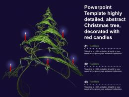 Powerpoint Template Highly Detailed Abstract Christmas Tree Decorated With Red Candles