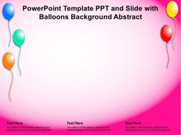 Powerpoint Template Ppt And Slide With Balloons Background Abstract