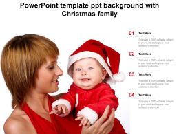 Powerpoint Template Ppt Background With Christmas Family
