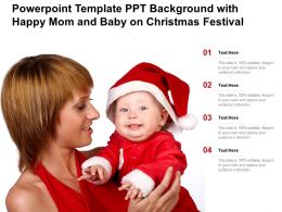 Powerpoint Template Ppt Background With Happy Mom And Baby On Christmas Festival