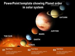 Powerpoint Template Showing Planet Order In Solar System