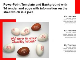 Powerpoint Template With 3d Render And Eggs With Information On The Shell Which Is A Joke