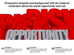Powerpoint Template With 3d Rendered Illustration About The Words Opportunity And Risk