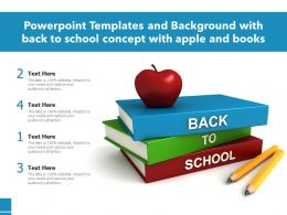 Powerpoint Template With A Books With Back To School Concept With Apple And Books