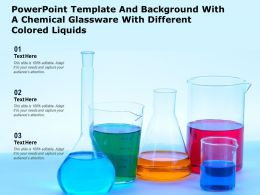 Powerpoint Template With A Chemical Glassware With Different Colored Liquids