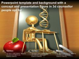 Powerpoint Template With A Concept And Presentation Figure In 3d Counsellor People Opt For