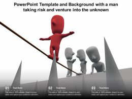 Powerpoint Template With A Man Taking Risk And Venture Into The Unknown