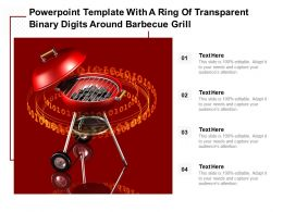 Powerpoint Template With A Ring Of Transparent Binary Digits Around Barbecue Grill