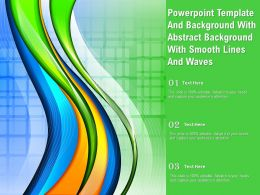 Powerpoint Template With Abstract Background With Smooth Lines And Waves
