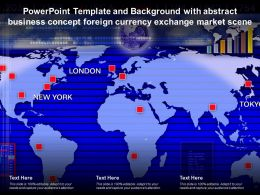 Powerpoint Template With Abstract Business Concept Foreign Currency Exchange Market Scene