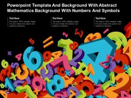 Powerpoint Template With Abstract Mathematics Background With Numbers And Symbols