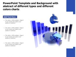 Powerpoint Template With Abstract Of Different Types And Different Colors Charts