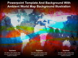Powerpoint Template With Ambient World Map Background Illustration Ppt Powerpoint
