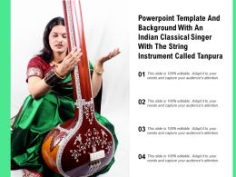 Powerpoint Template With An Indian Classical Singer With The String Instrument Called Tanpur