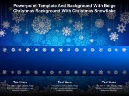 Powerpoint Template With Beige Christmas Background With Christmas Snowflake