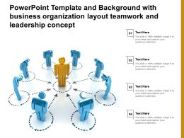 Powerpoint Template With Business Organization Layout Teamwork And Leadership Concept