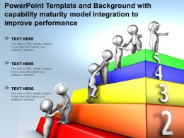 Powerpoint Template With Capability Maturity Model Integration To Improve Performance