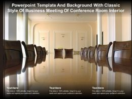 Powerpoint Template With Classic Style Of Business Meeting Of Conference Room Interior