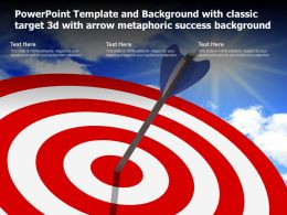 Powerpoint Template With Classic Target 3d With Arrow Metaphoric Success Background