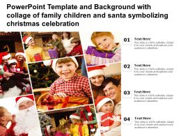 Powerpoint Template With Collage Of Family Children And Santa Symbolizing Christmas Celebration