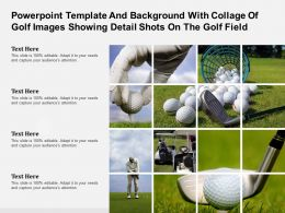 Powerpoint Template With Collage Of Golf Images Showing Detail Shots On The Golf Field