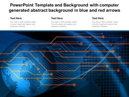 Powerpoint Template With Computer Generated Abstract Background In Blue And Red Arrows