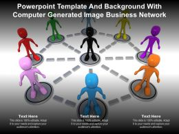 Powerpoint Template With Computer Generated Image Business Network Ppt Powerpoint