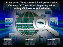 Powerpoint Template With Concept Of The Internet Depicting Wide Variety Of Resources Available