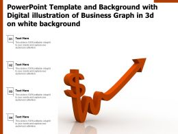 Powerpoint Template With Digital Illustration Of Business Graph In 3d On White